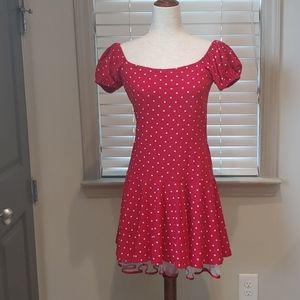 Betsey Johnson Red & White Polka Dot Dress